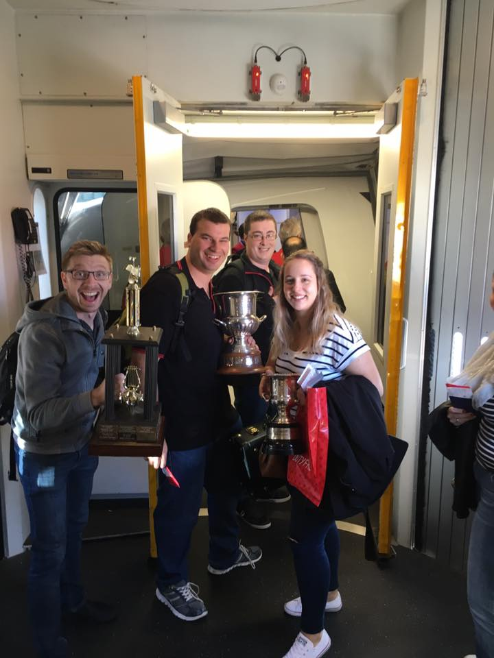 Taking the trophies back to Australia!